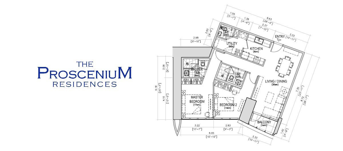 The Proscenium Residences Tower 2BR 89SQM