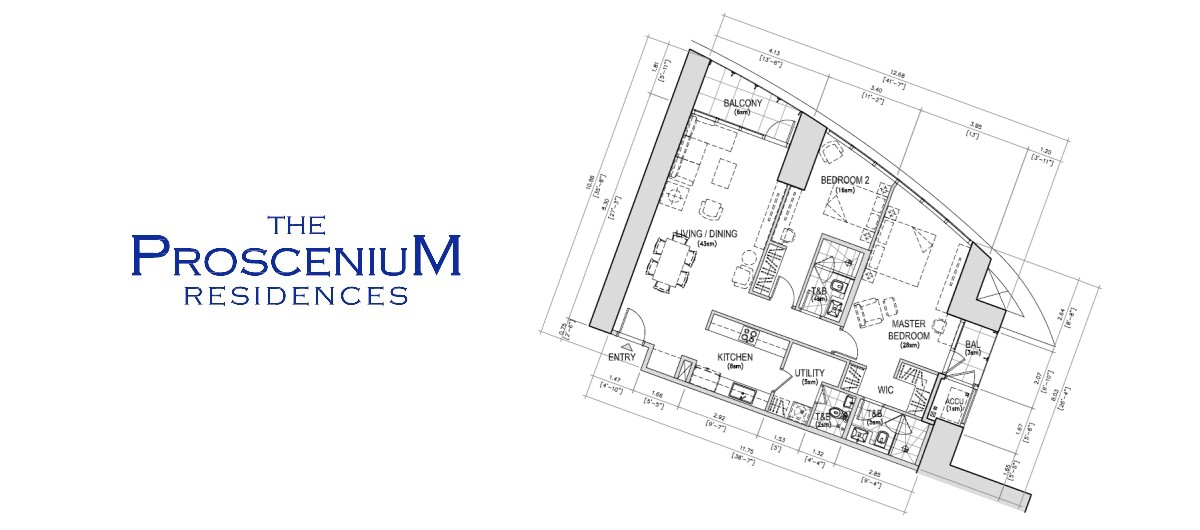 The Proscenium Residences Tower 2BR 121SQM
